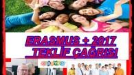 Erasmus + Programı 2017 Teklif Çağrısı