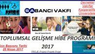 Sabancı Vakfı Toplumsal Gelişme Hibe Programı