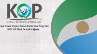 KOP Kırsal Kalkınma Mali Destek Programı Teklif Çağrısı