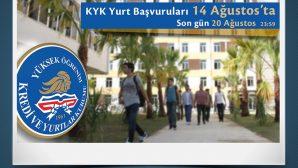 KYK Yurt Başvuruları 14 Ağustos'ta Başlıyor