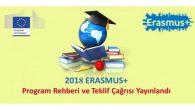 Erasmus + Programı 2018 Teklif Çağrıları Yayınlandı