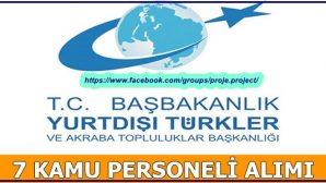 YTB Sözleşmeli Personel Alımı