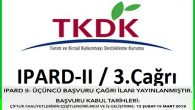IPARD II Programı Üçüncü Başvuru Çağrı İlanı