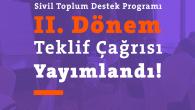 Sivil Toplum Destek Programı II.Dönem Teklif Çağrısı