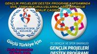 Gençlik Projeleri Destek Programı-Sivil Toplum Kuruluşları Teklif Çağrısı