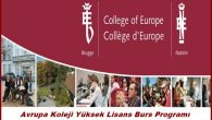 Avrupa Koleji Yüksek Lisans Burs Programı