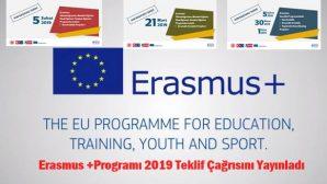 Erasmus +Programı 2019 Teklif Çağrısını Yayınladı