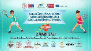 """""""Geleceğin Tenis Sporunu Gençler için Gençlerle Şekillendiriyoruz"""" İsimli Projemizin Giresun Bölge Toplantısı"""